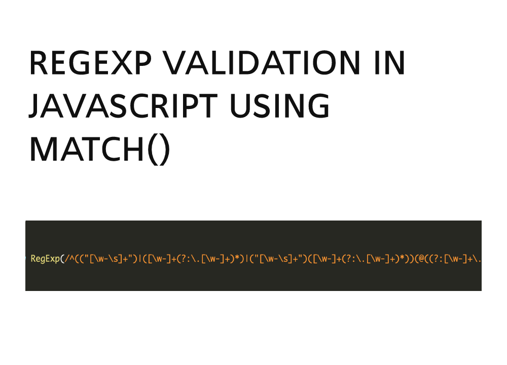 Email validation in javascript using regular expression with